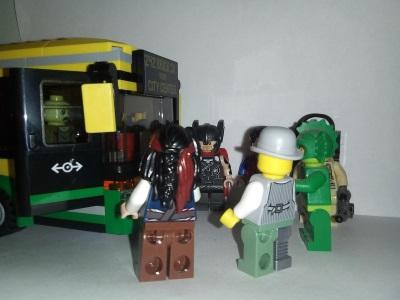 Lego Wedding Bus Breakdown