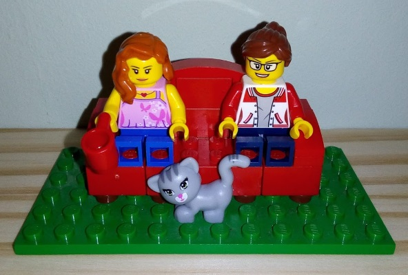 Lego B and C on sofa