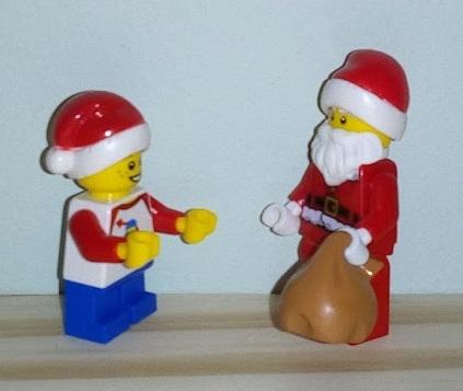 Lego Advent Santa