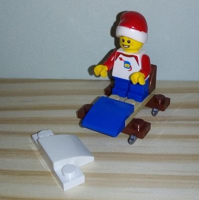 Lego X on a Sled